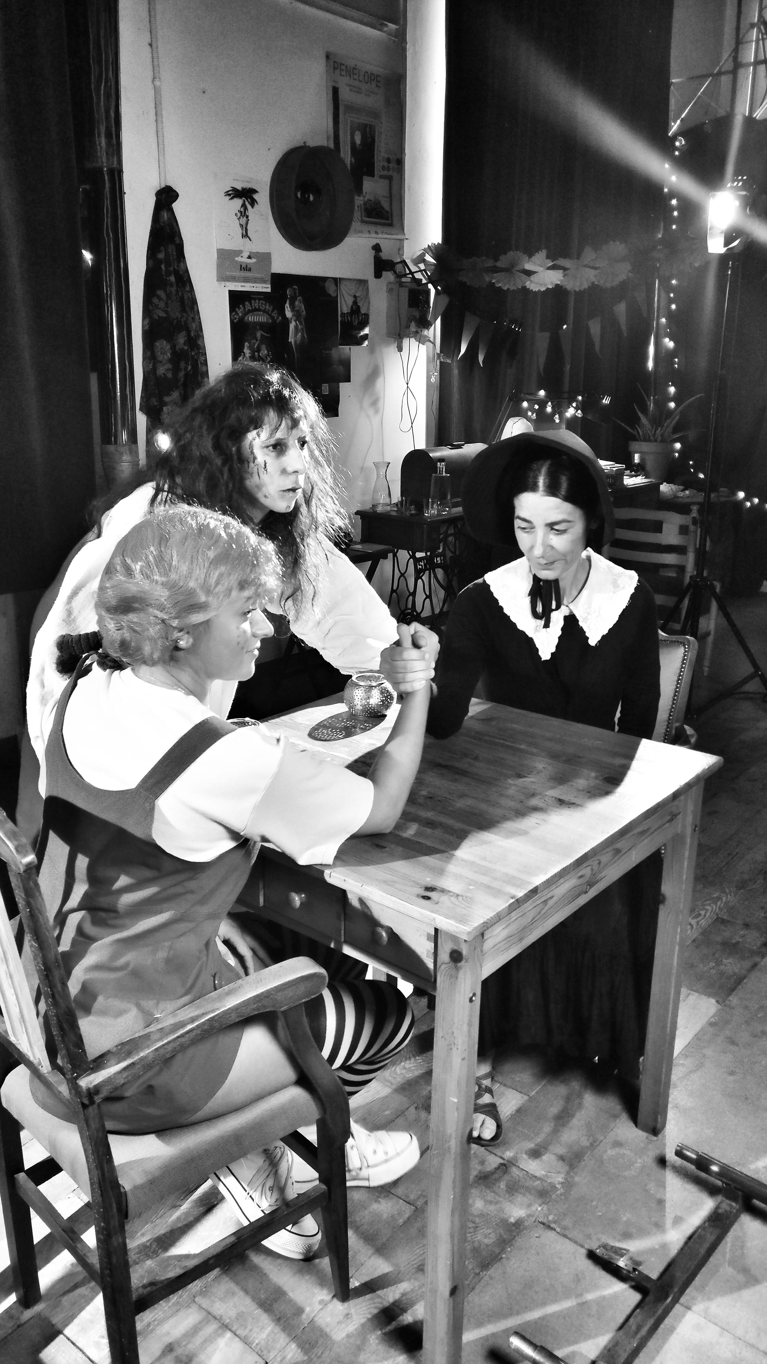 Ana Delgado, Carlota López y Sara Cinca