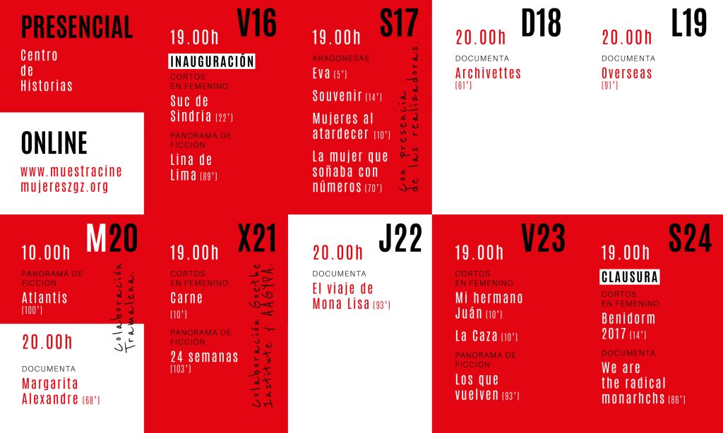 parrlla XXIII edición festival internacional de cine de mujeres, zaragoza